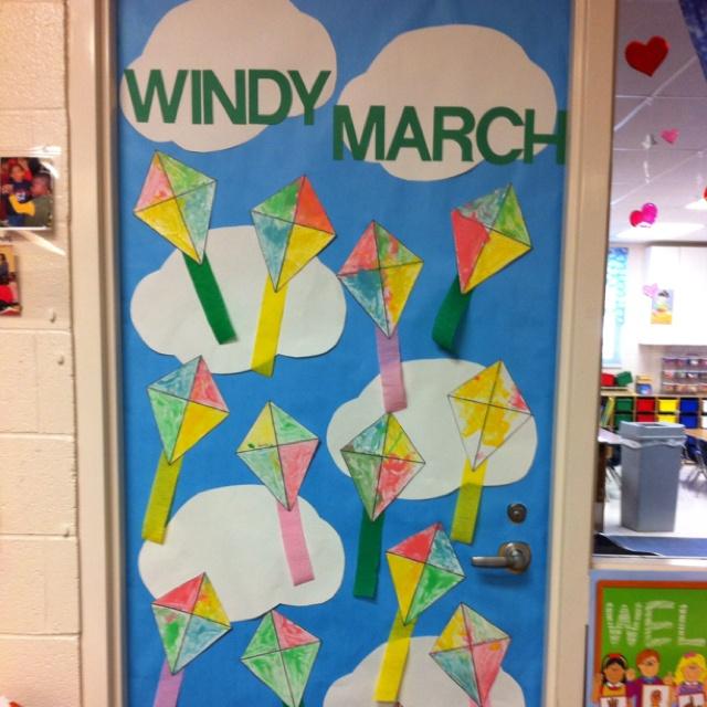 March classroom door