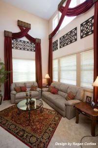 High ceiling window treatment | Crafty Ideas | Pinterest