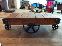 antique warehouse cart. coffee table? | We can do it, yes ...