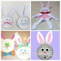 Paper Plate Easter Bunny | Holidays | Pinterest