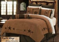 NEW Western Rustic Country Triple Star Comforter Bedding ...