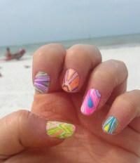 Spring Break Beach nails | Nail ideas | Pinterest