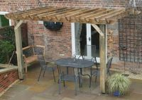 another pergola with flagstone patio | OUTDOORS | Pinterest