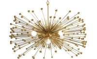 Gold Beaded Urchin Chandelier Lighting with Five Lights