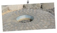 fire pit - drain pipe for frame | Outdoorsey | Pinterest