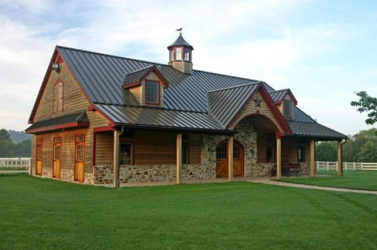 Pole Barn Style House Plans Barn Home Horse Facility