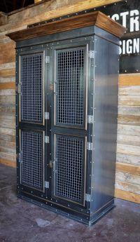 Vintage Industrial Storage Cabinet | Vintage industrial ...