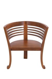 Teak Wood Barrel Chair | For the Home | Pinterest