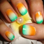 Indian Flag Nail Art