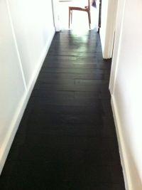painted black floors   New House Ideas   Pinterest