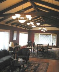 Exposed beam ceiling | Interiors: Living Spaces | Pinterest