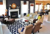 Navy Blue Rug Living Room | www.imgkid.com - The Image Kid ...