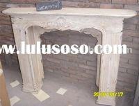 Shabby chic wood fireplace mantel | For the Home | Pinterest