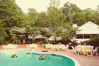 Real Weddings: Courtney & Michael's Backyard Poolside Wedding