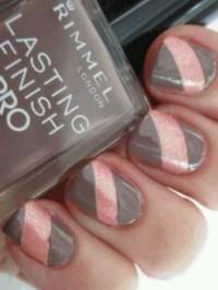 Pink/gray nails | { Nail Designs iLove } | Pinterest