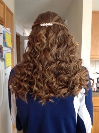 Waterfall braid curly hair | Bat mitzvah | Pinterest