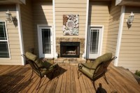 Double sided fireplace from inside to outside!! | For the ...
