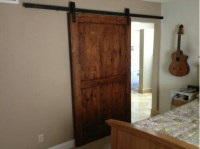 Hanging reclaimed barn door | House ideas | Pinterest