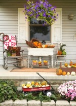 Country Front Porch Fall Decorating Ideas