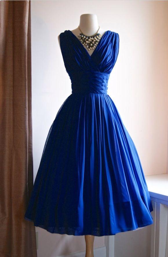 Bridesmaids dresses. Sapphire blue