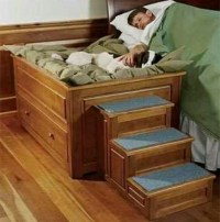 Old nightstand turned into a dog bed. | DIY | Pinterest