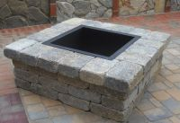 Outdoor fire pit made with stone pavers | The Garden ...