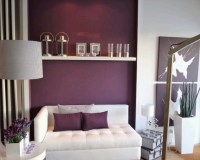Purple Accent wall   Apartment decorating   Pinterest