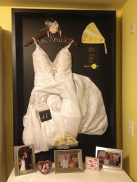 Wedding dress shadow box | house | Pinterest