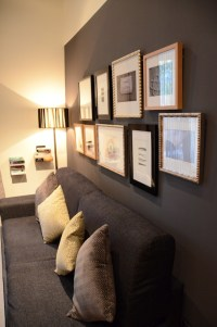 dark grey accent wall in basement | For the Home | Pinterest