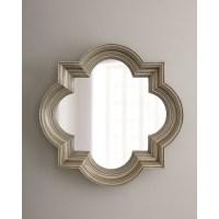 Silvery Quatrefoil Mirror | master bedroom | Pinterest
