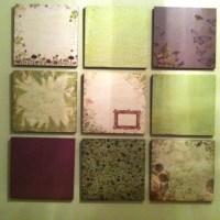 Scrapbook paper wall art | Teen Girl Room | Pinterest