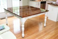 Refinish your kitchen table | Kitchen Remodel Ideas ...