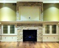 Fireplace surround cabinets | Fireplace | Pinterest