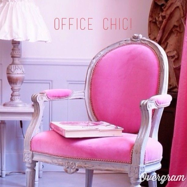 Shabby Chic Office Chairs Pink In The Office Pinterest