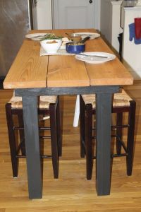Long Bar Height Table DIY! Charles is making me this ...