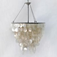 Worlds Away Capiz Shell Chandelier | lighting | Pinterest
