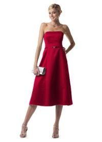 Bridesmaids dresses candy apple red