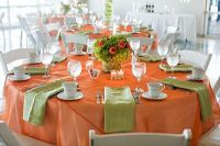 Orange and Green Table Setting | Orange and Green Wedding ...