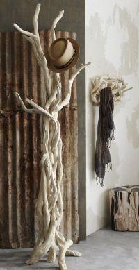 Driftwood Coat Rack | Mud room/front entry | Pinterest