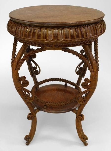 Victorian End Table Wicker Victorian Table End Table Natural | Furniture