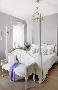 White & Lavender Bedroom | Home Decor | Pinterest