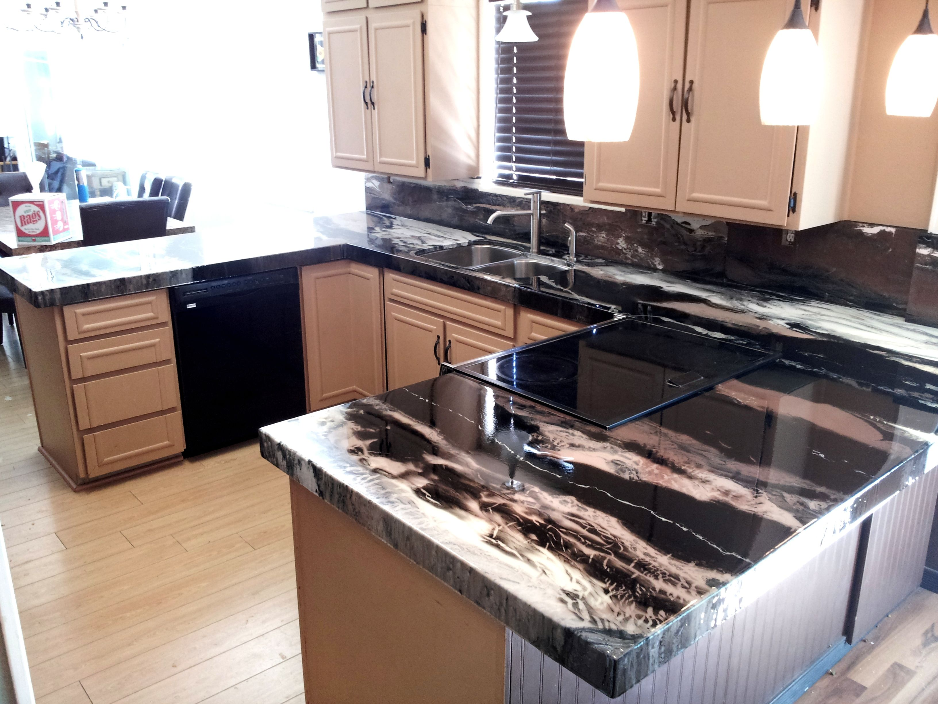 Black Faux Granite Countertops Pin By Countertop Epoxy On Counter Tops Pinterest