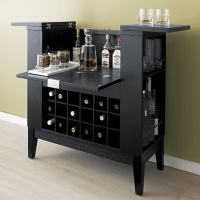 Wine and liquor cabinet. | Hearth & Home | Pinterest