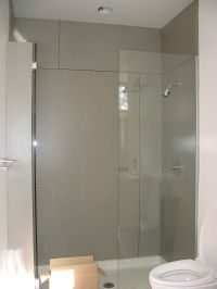 Concrete shower walls