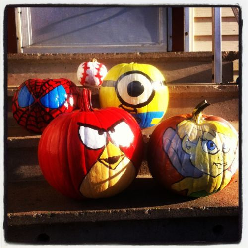 Painted Halloween Pumpkins Halloween Craft Ideas Pinterest