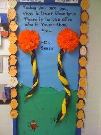 March/Dr. Seuss Door! | Classroom door decorations | Pinterest