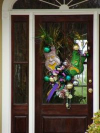 Like the Mardi Gras Door Decoration | New Orleans & Mardi ...