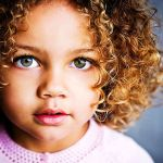 Mixed Baby Girl With Green Eyes