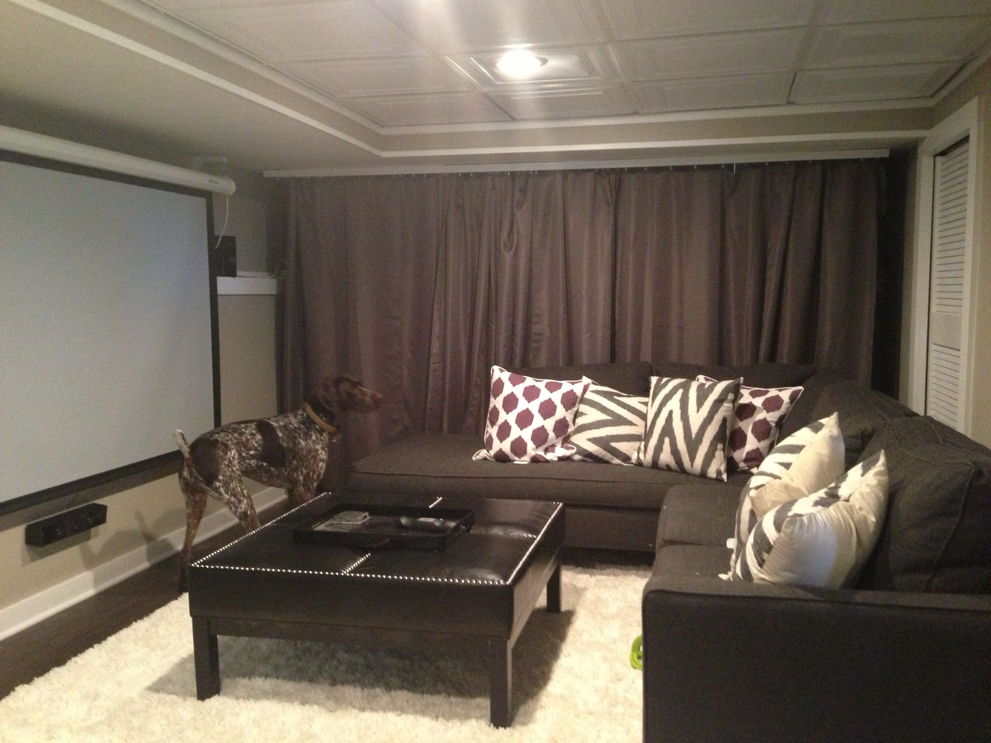 Media Rooms In Basement Basement Media Room A Beautiful Space Pinterest