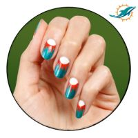 Miami Dolphin design. | nails | Pinterest
